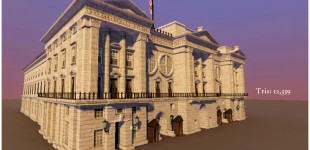 Buckingham Palace in London. I took it from blockout to the final version, and applied the textures, but the textures were created by another artist.