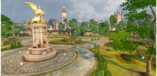 I took this level from a second art pass into a final, launch ready product. I also created the statue and parliament building (Big Ben).