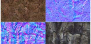 The texture sheets for some of the terrain textures used.